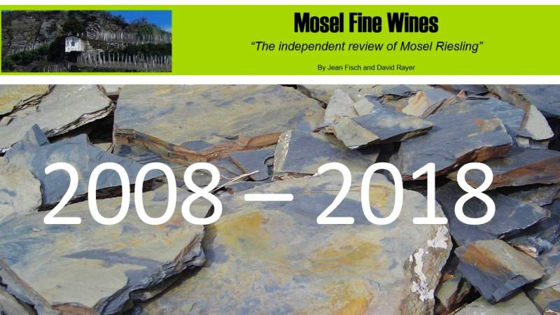 Mosel Fine Wines | 10 Years Anniversary | | Development of the Mosel