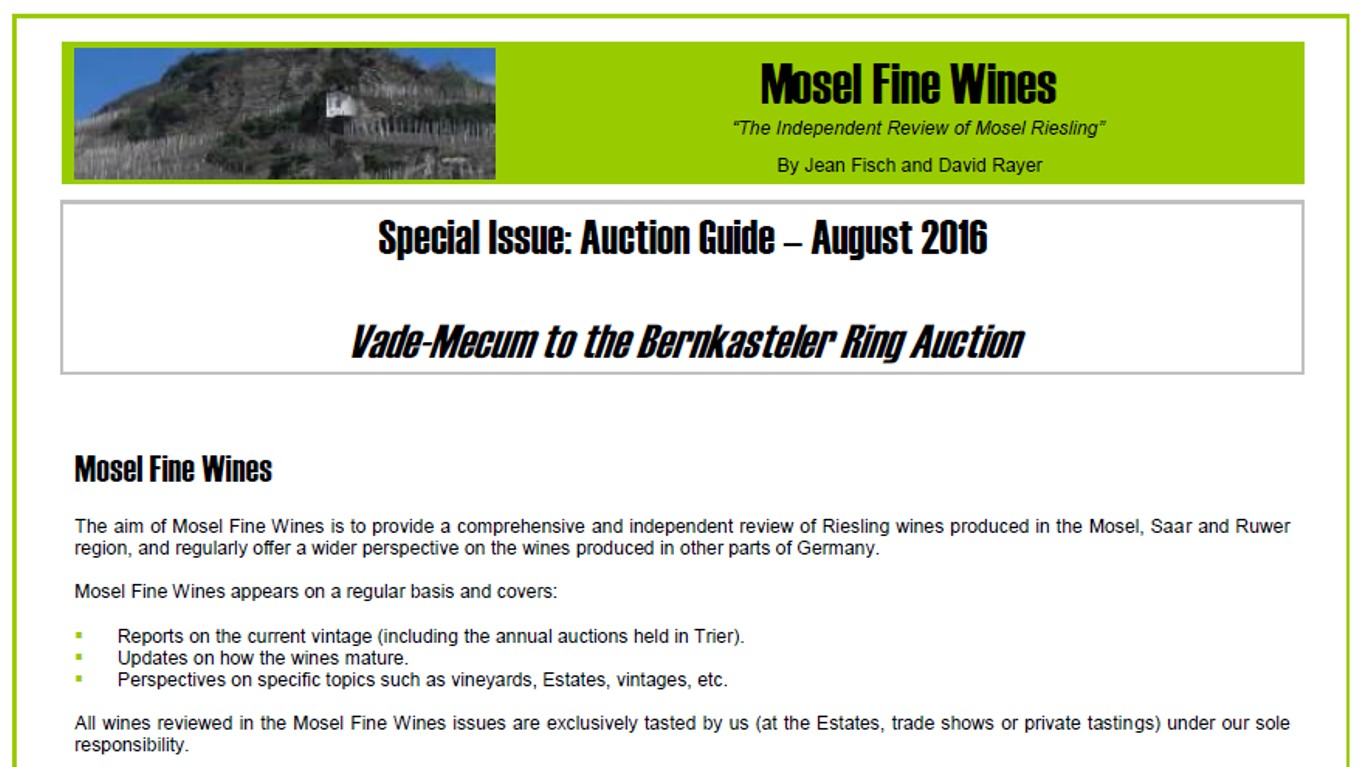 Mosel Fine Wines | Report | Auction Guide 2016