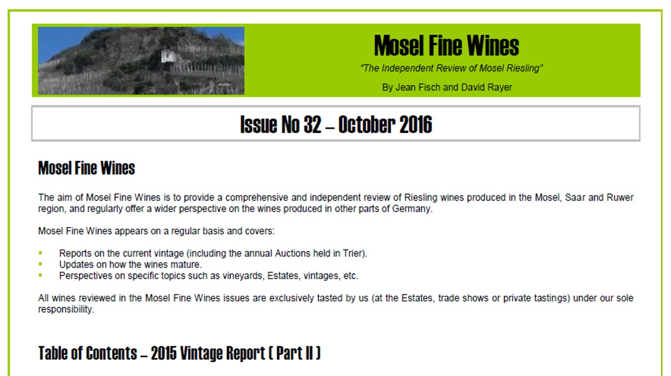 Mosel Fine Wines | Report | Mosel Vintage 2015