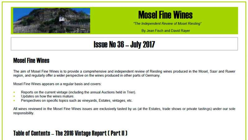 Mosel Fine Wines | Report | Mosel Vintage 2016