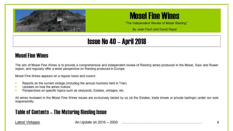 Mosel Fine Wines | Report | Mosel Vintage 2008 | Mosel Vintage 1998