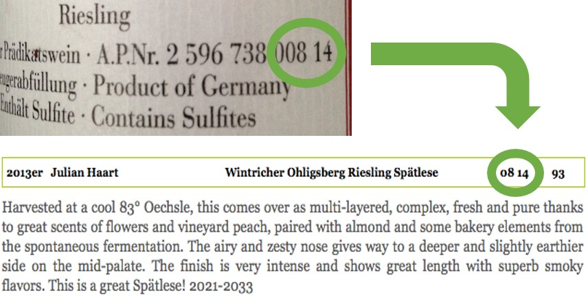 explanation of AP Number on German Wine Label